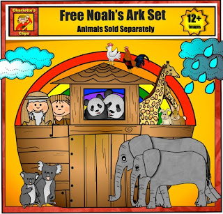 Faith Filled Freebies: Free Noah's Ark Clip Art and Lesson Links