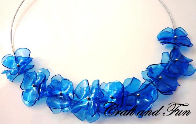 collana in pet blu