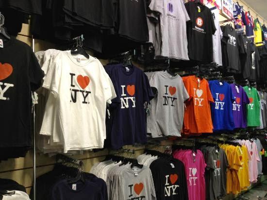 Loja de souvenirs Grand Slam em Nova York