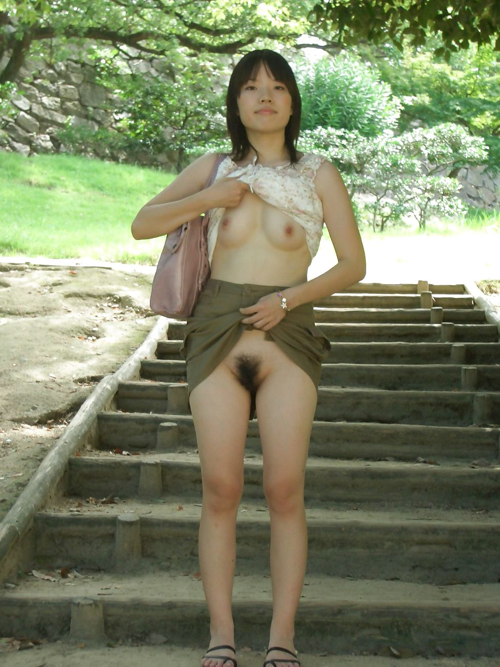 Nude female fitness athletes