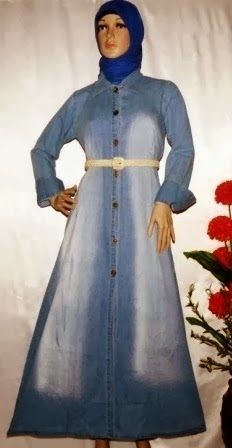 Model Gamis jeans washed 2014