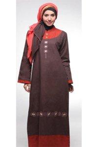 Najya Gamis J12 - Coklat Tua (Toko Jilbab dan Busana Muslimah Terbaru)