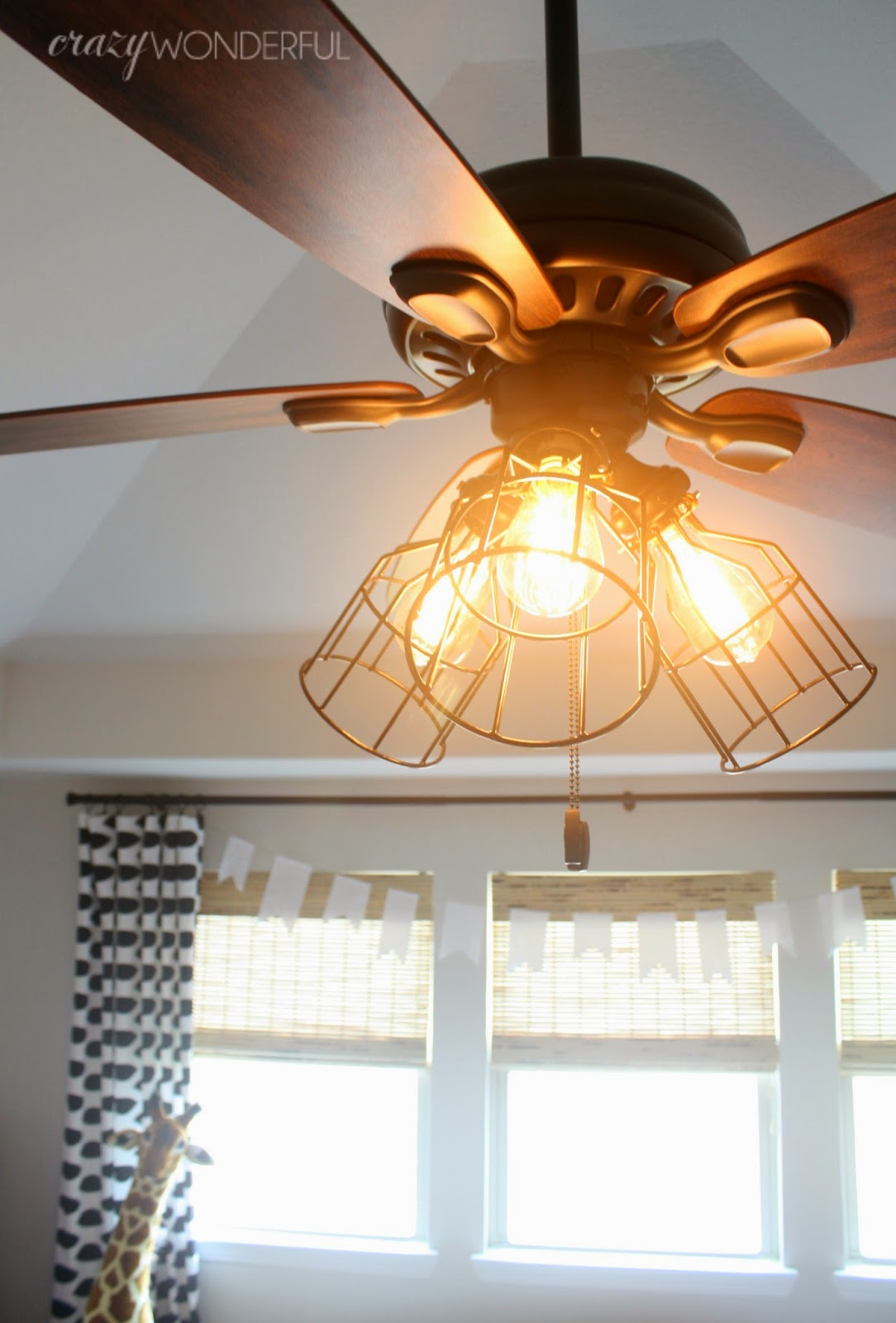 Diy cage light ceiling fan crazy wonderful - Diy ceiling lamps ...