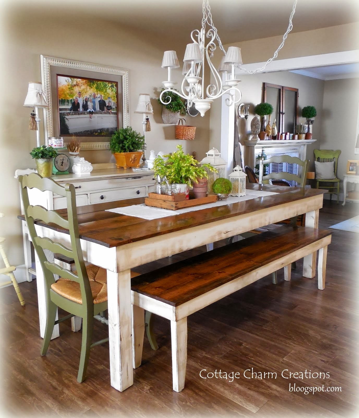 Cottage Charm Farmhouse Collection Provincial Farmhouse Table Benches