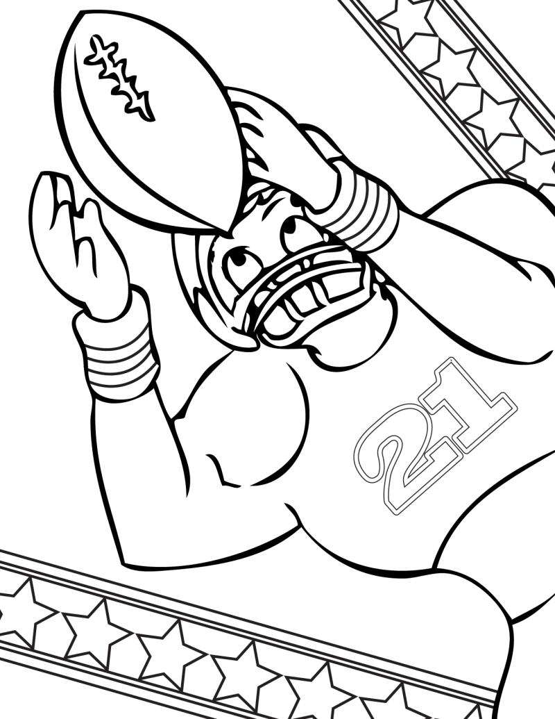 Football coloring pages best collections 2011 kids for Football color page