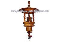 Lampu Dinding Minimalis Kayu Jati