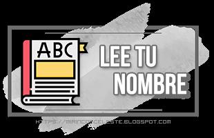 Reto Lee tu nombre 2020