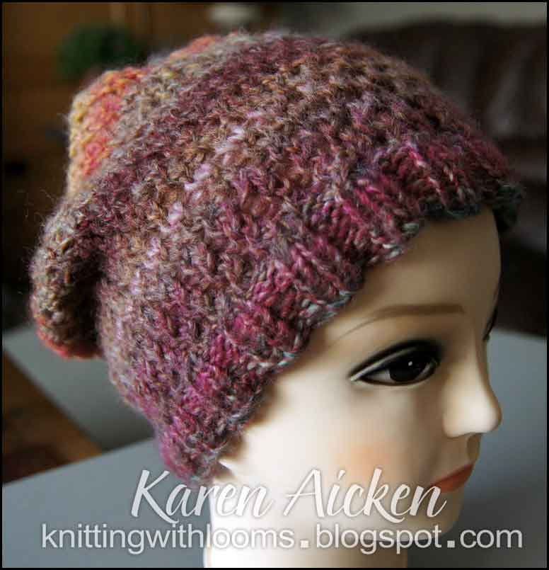 Knitting With Looms: Another Finished Slouch Hat