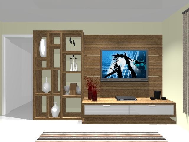 Home Para Sala De Tv Barato ~ Esta sala é ampla, com ambientação de estar e TV, recebe o Home com