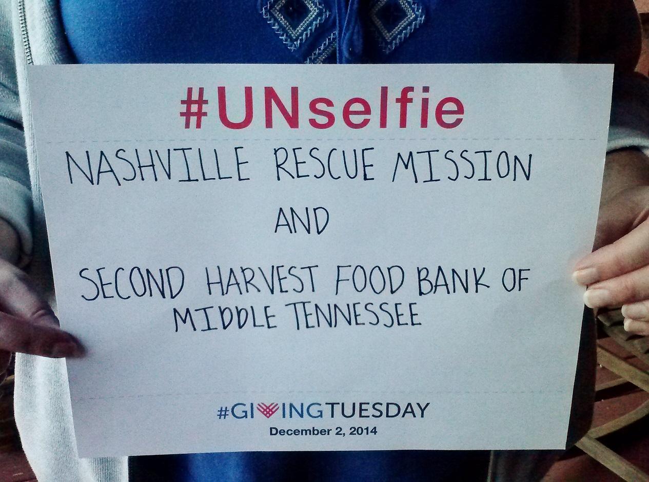 My UNselfie #GivingTuesday