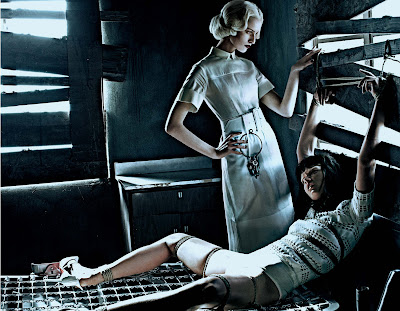 Karolina Kurkova & Crystal Renn in 'Institute White' by Steven Klein for Interview Magazine-5