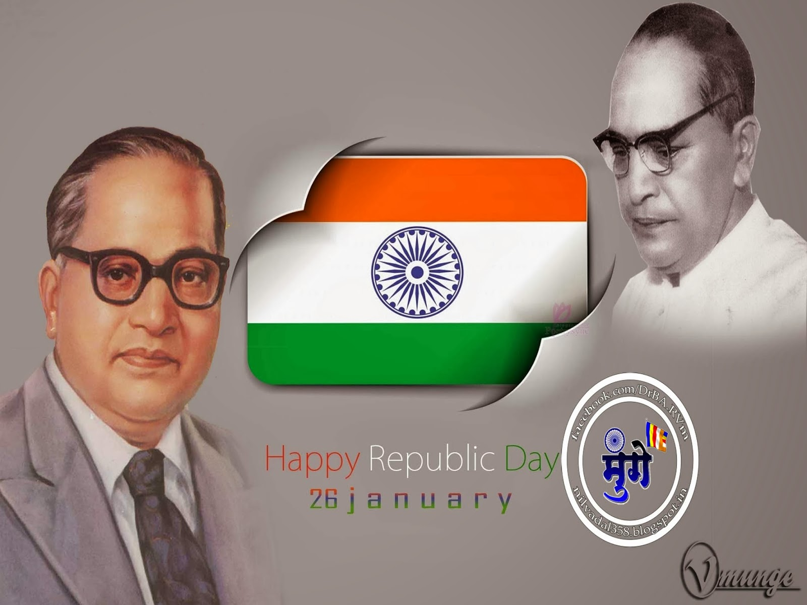 Republic Day Father Of Indian Constitution Dr.Babasaheb Ambedkar hd Wallpaper Happy republic day Dr BR Bhimrao Ramji Babasaheb Ambedkar