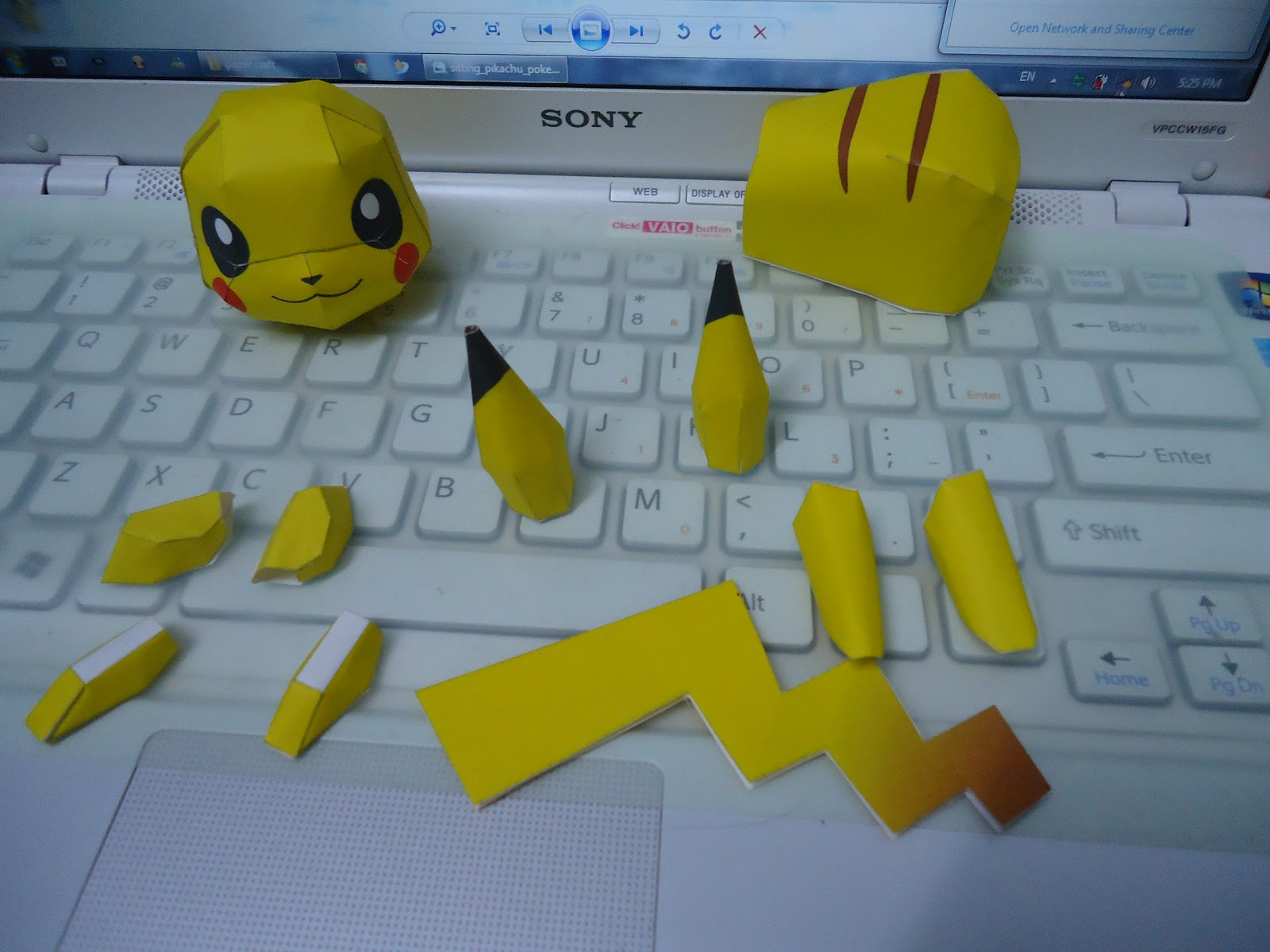 Stay Happy All The Time Pikachu Papercraft