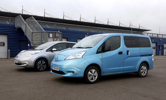 Nissan e-NV200 and Nissan Leaf