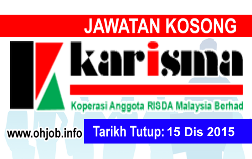 Jawatan Kerja Kosong Koperasi Anggota RISDA Malaysia logo www.ohjob.info disember 2015