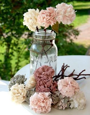 flores de feltro com molde e PAP (DIY)
