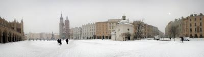 Nieve en Cracovia
