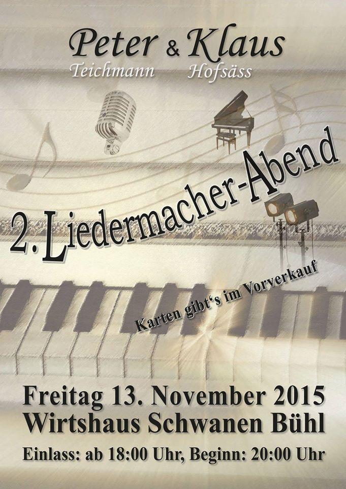 """Rückblick 2015 Liederabend """"Schwanen"""" Bühl"""