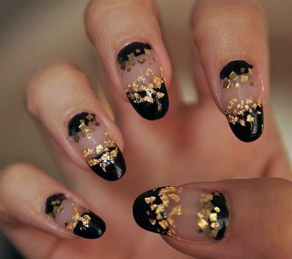 Gel Nail Art Gold The Best Inspiration For Design And Color Of The