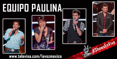 equipo paulina rubio show en vivo 1