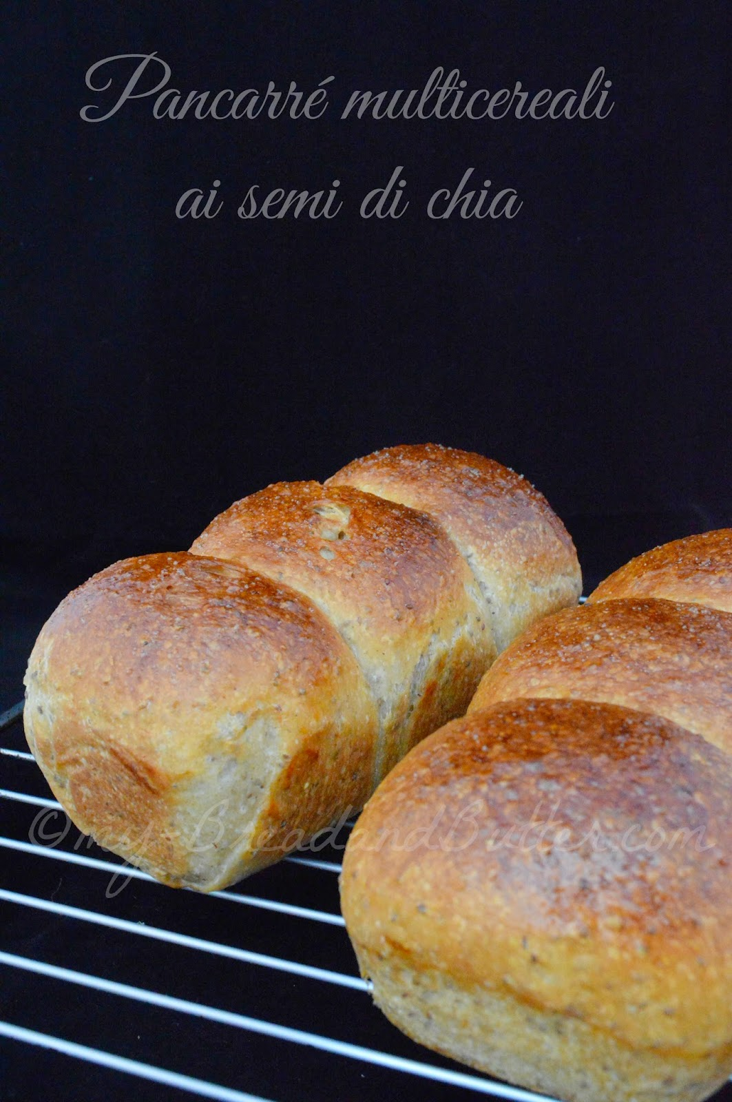 Soft sandwich bread with chia seeds