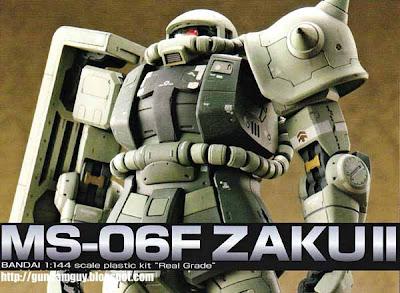 Bandai Real Grade 1/144 MS-06F Zaku II