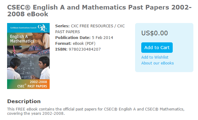 free cxc past papers Your best csec past papers for math, info tech, english, biology, physics and more download past papers solutions and multiple choice questions form our question bank.
