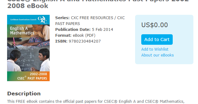 free cxc past papers Caribbean examinations council caribbean secondary education certificate csec mathematics syllabus effective for examinations from mayjune 2010 cxc 05gsyll 08nbsponline help for cxc csec mathematics, past papers, worksheets, tutorials and solutions csec math tutor home exam strategy past papers.