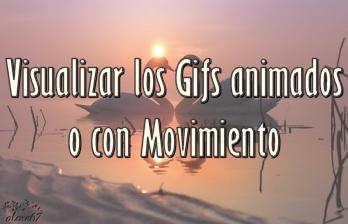 Imagen que dice Visualizar los gifs animados con movimiento