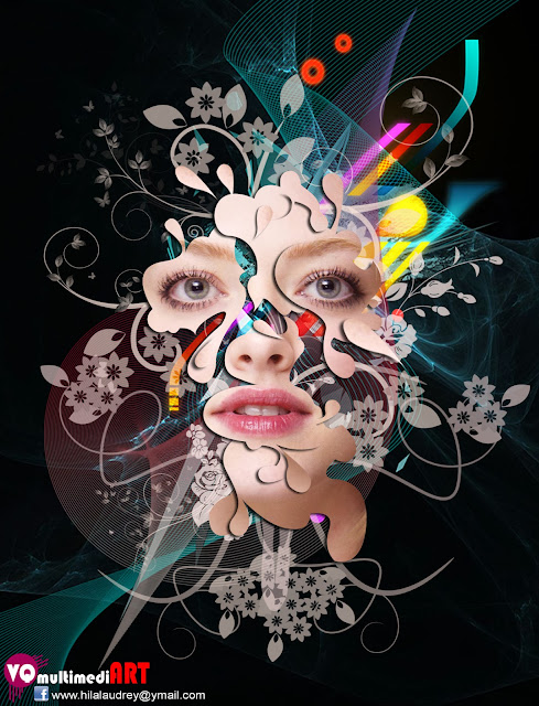 Amanda Seyfried 025 TUTORIAL FLORAL ABSTRAK DESIGN dengan PHOTOSHOP