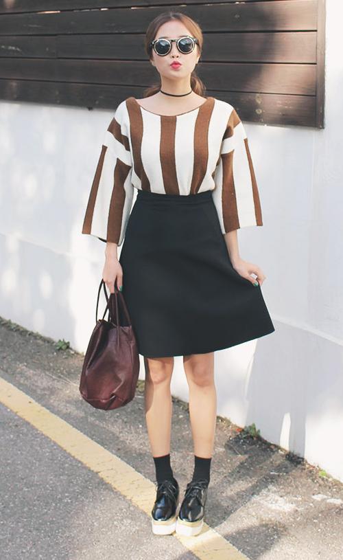 Plain A-Line Skirt