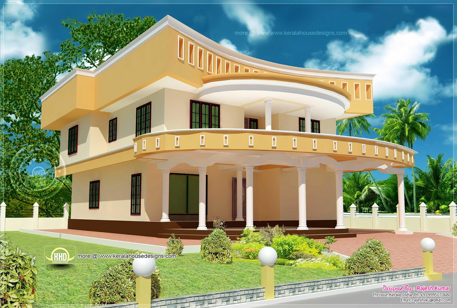 Unique home design in kerala kerala home design and floor plans - Unique house design ...