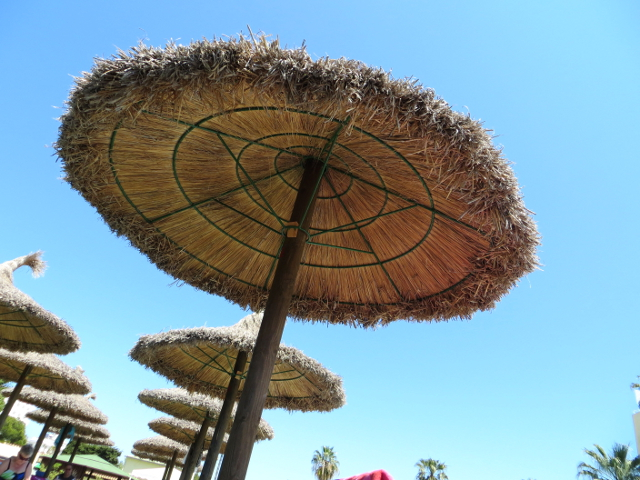 Parasol Alcudia Mallorca rantavarjo