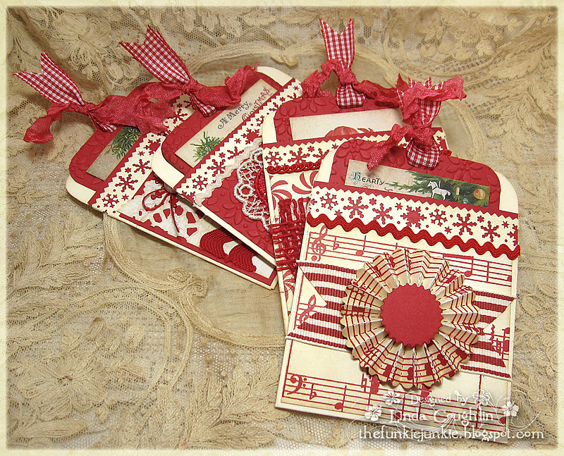 The Funkie Junkie: Library Card Fold Christmas Cards
