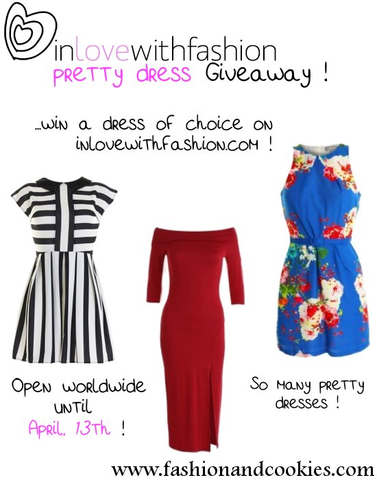 In love with Fashion Giveaway - win a dress of choice !