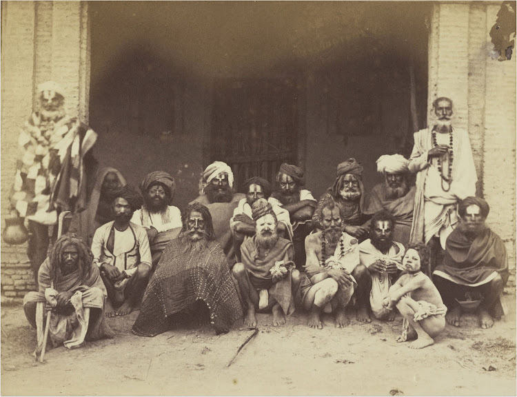 Group of Fakirs (Sadhus) - c1884
