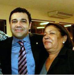 Marco Feliciano com Lúcia Maria, sua mãe