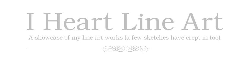 I Heart Line Art