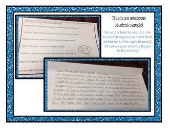 http://www.teacherspayteachers.com/Product/Revise-the-Story-TEN-one-page-stories-for-revisions-figurative-language-1072175
