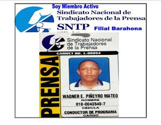 MIEMBRO ACTIVO DEL SNTP / BARAHONA