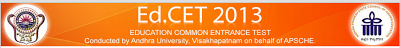 EDCET 2013 Hall Ticket Download at apedcet.org