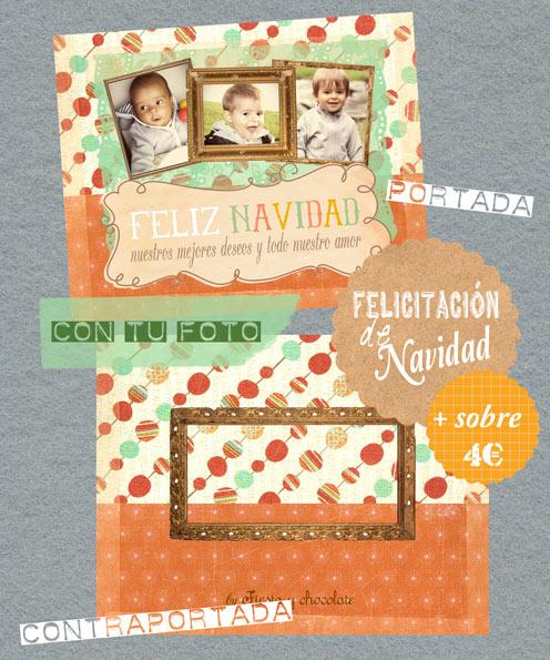 felicitación bolas de Navidad by Fiesta y chocolate