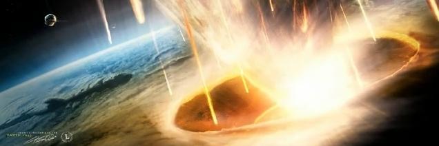 Apophis chega na Terra em 2036, asteroide caindo na Terra