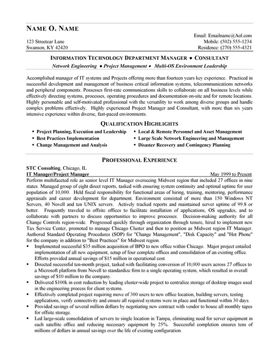 resume – Management Consulting Resume Example