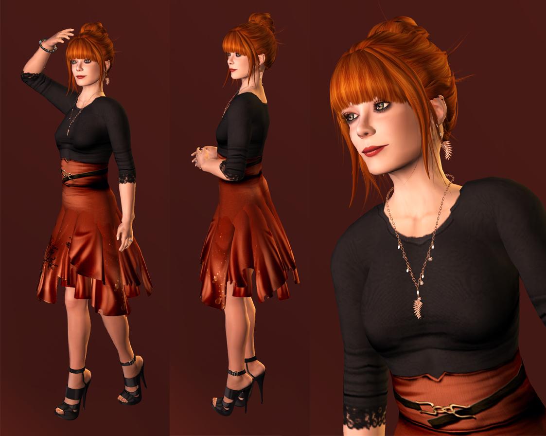 Mahogany Red Hair Maitreya's uma hair in copper