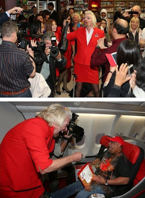 Hartawan penerbangan, Sir Richard Branson jadi pramugari Air Asia