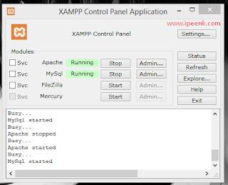 Xampp sukses di install