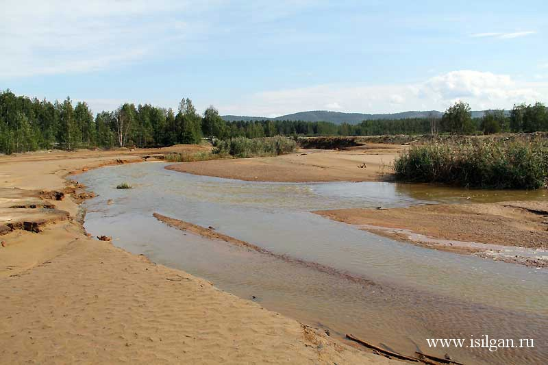 Река Сак-Элга (Сак-Елга). Город Карабаш. Челябинская область.