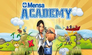 Screenshots of the Mensa Academy for Android tablet, phone.