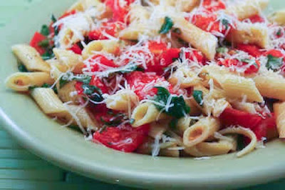 ... tomatoes hanging out on the kitchen counter, make this No Cook Pasta